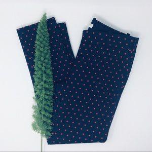 J. Crew Stretch Pretty Dotted Capri Pants Size (0)